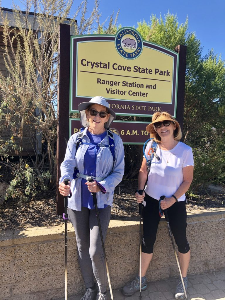 The Before picture of Terri and Donna's training hike.